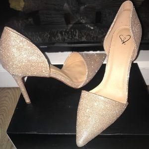Windsor Gold Glitter Heel